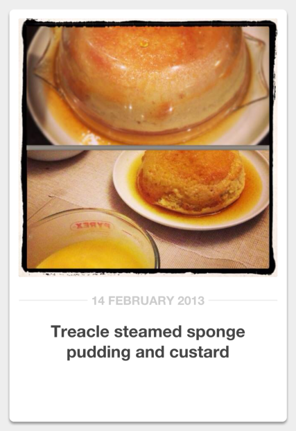 Treacle steamed pudding