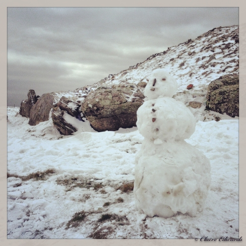Loughcrew Snowman (captured using iPhone 5)