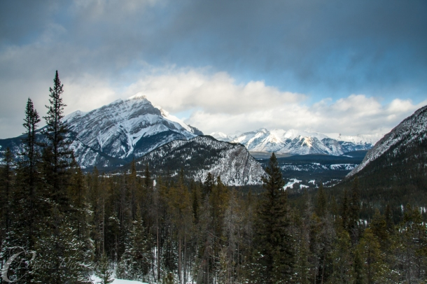 First view of Banff (Canon 40D, 1/15sec @ f/9.0)